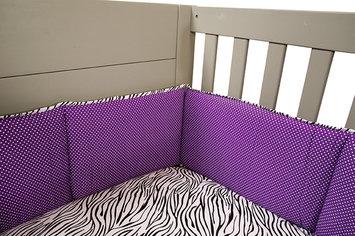 Test Trend Lab Grape Expectations Crib Bumpers Purple/Black