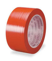 Scotch Safety Warning Tape (2 in W, 108 ft L, Red). Model: 471