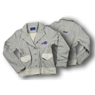 Reebok Buffalo Bills Womens Sweater Blazer Grey (Large)