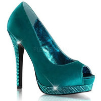 Bordello by Pleaser Women's Bella 12R Pumps [Turquoise / Turquoise, 10 B(M) US]