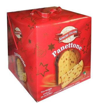 Supremo Italiano Panettone 2 Pound Thanksgiving Holiday Italian Specialy Cake