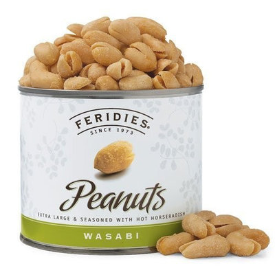 FERIDIES Wasabi Virginia Peanuts, 9-Ounce Cans (Pack of 4)