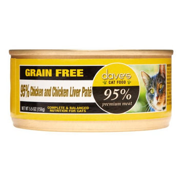 Dave's Pet Food Dave's 95% Chicken and Chicken Liver Pate Formula Canned Cat Food
