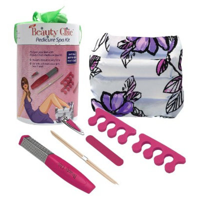 Beauty Chic Pedicure Spa Kit - Pink/White
