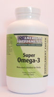 Super Omega-3 No Chinese Ingredients American Supplements 240 Softgel