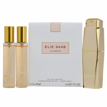 Elie Saab Le Parfum Purse Spray with 2 Refills, 1 set