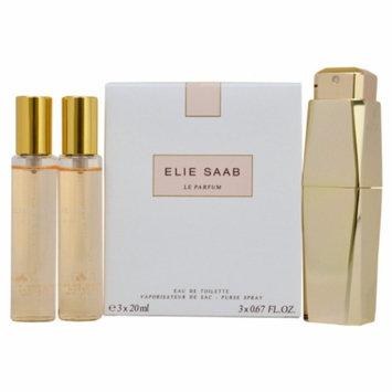 Elie Saab Le Parfum Purse Spray with 2 Refills, 1 set