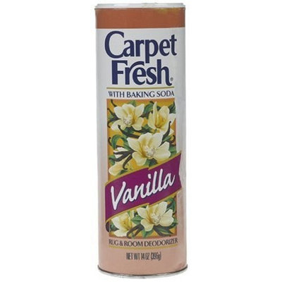 Carpet Fresh Rug & Room Deodorizer with Baking Soda, Powder Vanilla 14 oz (396 g)