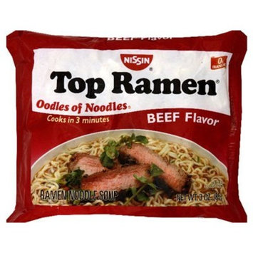 Nissin Top Ramen Variety Pack 48ct (24-3oz Beef-24-3oz Chicken)
