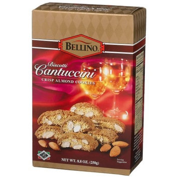 Bellino Cantuccini (Crisp Almond) Cookies, 8.8-Ounce Boxes (Pack of 6)