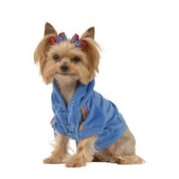 Max's Closet 90613-S Royal Blue Velour Hoodie