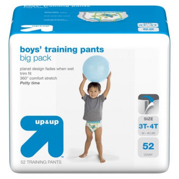 up & up Boys' Training Pants Size 3T-4T 52 ct
