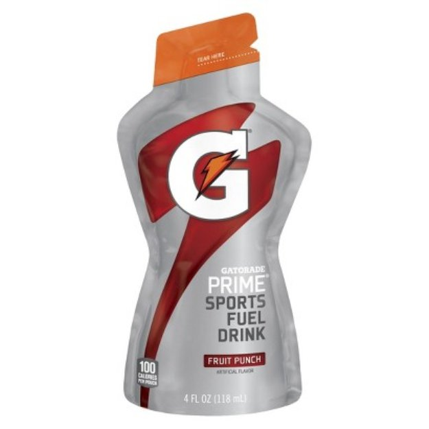 Gatorade Prime Pouch Fruit Punch 4oz Single