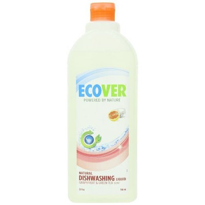 Ecover Dishwashing Liquid, Grape Fruit and Green Tea, 32 Fluid Ounce