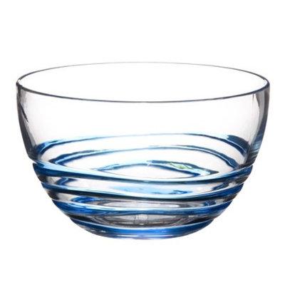 Diligence Inc Acrylic Swivel Bowl Set of 4 - Blue