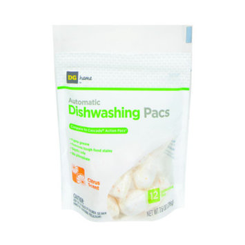 DG Home Automatic Dishwashing Pacs - 12 Pack