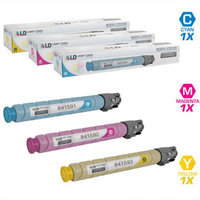 LD Compatible Replacements for Ricoh 3PK Laser Toner Cartridges: 1 841591 Cyan, 1 841592 Magenta, & 1 841593 Yellow for Ricoh Aficio, Savin, & Lanier MP C308