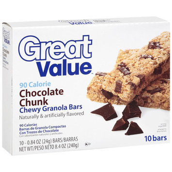 Great Value Low Fat Chocolate Chunk, 10 Ct