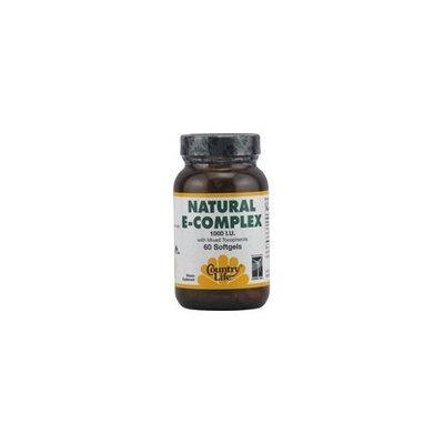Country Life Vitamin, Natural E Complex 1000 I.u., 60-Count