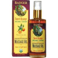 Badger Sweet Orange Aromatherapy Massage Oil