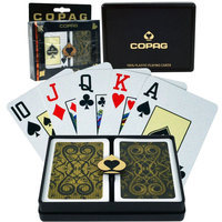 Trademark Commerce 10-B9841J Copag Bridge Size Jumbo Index - Iluminura Black*Gold Setup