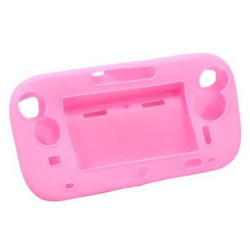 Ids Pink Silicone Soft Case Cover Skin Protector for Nintendo Wii U Gamepad