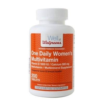 Walgreens One Daily Women's Multivitamin Vitamin D & Calcium Tablets
