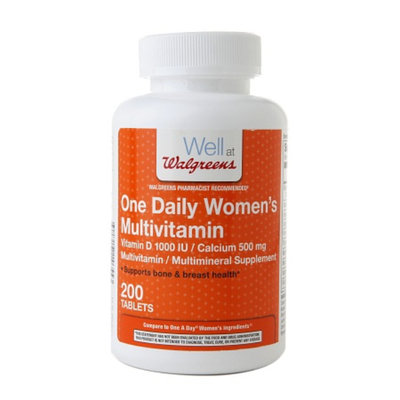 Walgreens One Daily Women's Multivitamin Vitamin D & Calcium Tablets