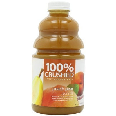 Dr. Smoothie 100% Crushed Fruit Smoothie, Peach Pear Apricot, 46-Ounce Bottles (Pack of 2)