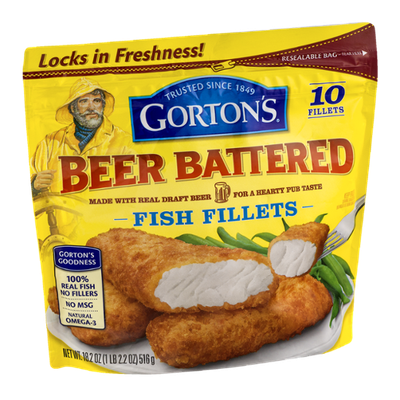 Gorton 39 s beer battered fish fillets 10 ct reviews find for Best frozen fish fillets