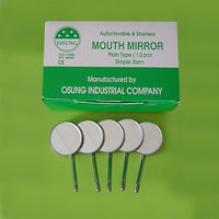 Osung DMSS5 Dental Mouth Mirror #5, Simple Stem (Pack of 12)