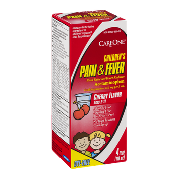 CareOne Children's Pain & Fever Medicine Cherry Flavor (Ages 2-11)