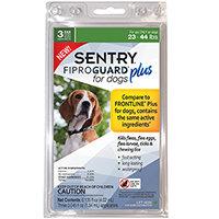 SENTRY Fiproguard Plus 23 44 Lb Flea and Tick Treatment Compare to FRONTLINE Plus