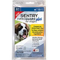 SENTRY Fiproguard Plus 89 132 Lb Flea and Tick Treatment Compare to FRONTLINE Plus