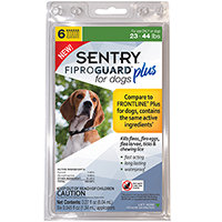 Sergeant's Fiproguard Plus Dog, 6 Pack 23-44 Lb Green