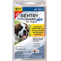 Sergeant's Fiproguard Plus Dog, 6 Pack 89-132 Lb Blue