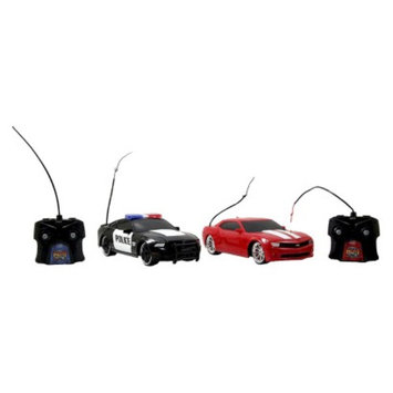 Jada HyperChargers Heat Chase Twin Pk - Police Mustang R/C and Camaro SS