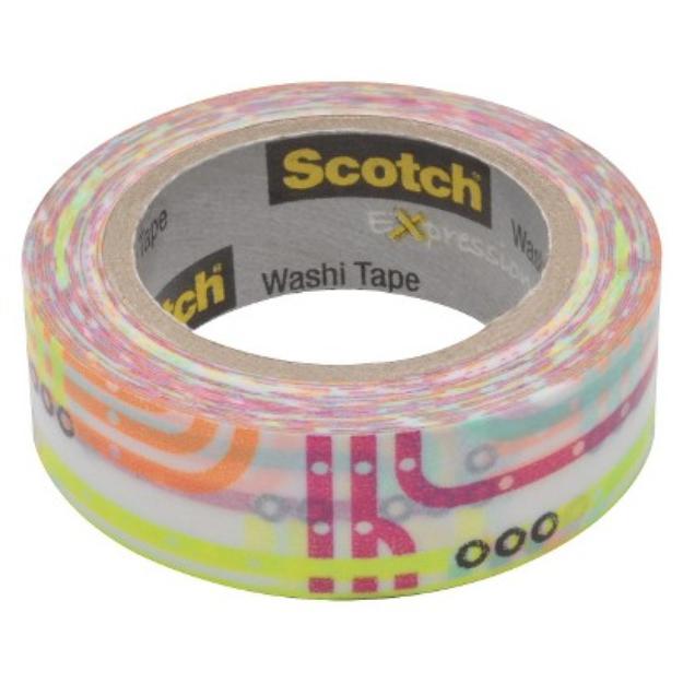 Scotch Washi Tape Purple Lines 10mX15mm