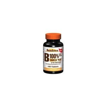 Sundown vitamin B 100% complex plus multivitamin supplement tablets - 100 ea