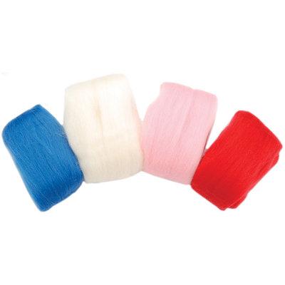 Clover 318793 Natural Wool Roving .7 Ounces 4Pkg
