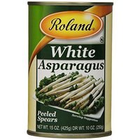 Roland Peeled Asparagus Spears, 15-Ounce Cans (Pack of 3)