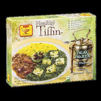 Deep Healthy Tiffin Palak Paneer Dal Makhani Turmeric Basmati Rice