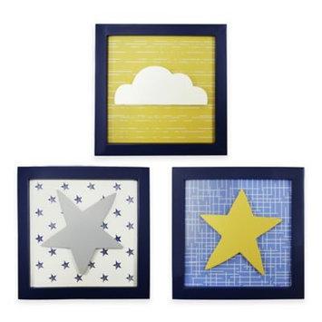 Farallon Brands The Peanut Shell Peek-A-Blue 3 Piece Art Set
