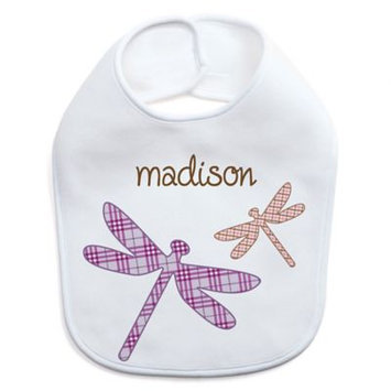 Personalized Planet White Dragonfly Personalized Bib