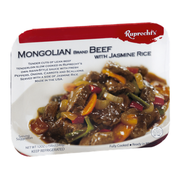 Ruprecht's Mongolian Beef with Jasmine Rice Fully Cooked