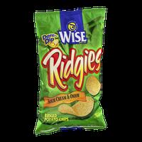 Wise Ridgies Sour Cream & Onion Ridged Potato Chips