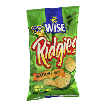 Wise Ridgies Sour Cream & Onion Ridged Potato Chips