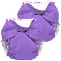 Gresco Lil Joey 2 Pack All in One Cloth Newborn Diaper, Amethyst 4-12lbs.