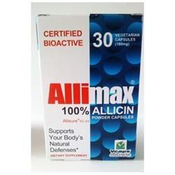 AlliMax Caps 180 mg, 100% Allicin, 30 Capsules, AlliMax