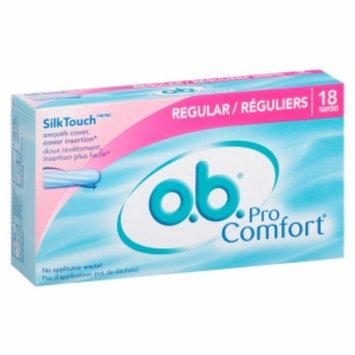 o.b. Pro Comfort Tampons, Regular, 18 ea